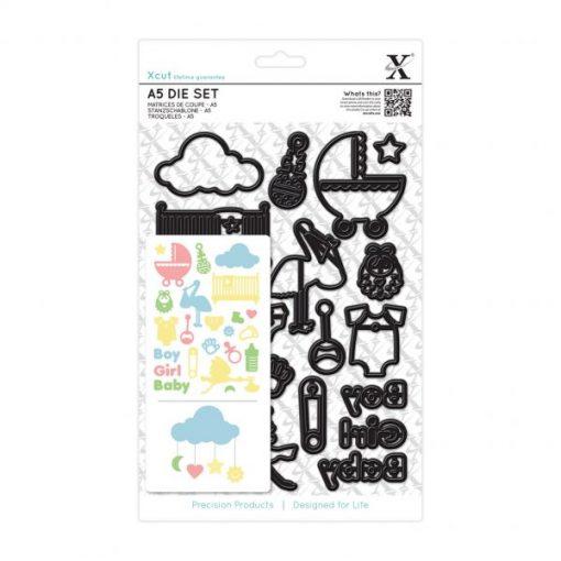 Set di Fustelle Baby Icons - A5 (23 pezzi) Baby Neonato Fustella Die Scrapbook Inviti Battesimo Baby Shower