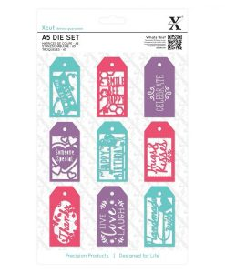 Set di Fustelle Everyday Gift Tags A5 (10 pezzi) Fustella Tags Targhette Dies Scrapbook Regalo Gift Cardmaking