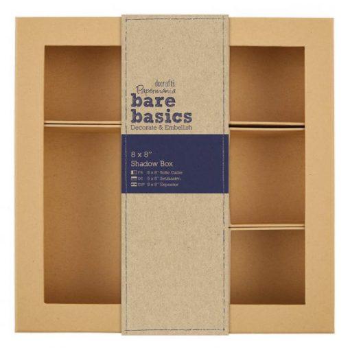 "8 x 8"" Shadow Box (20x 20 cm) Scatola cartone Die-cut Chipboard Box"