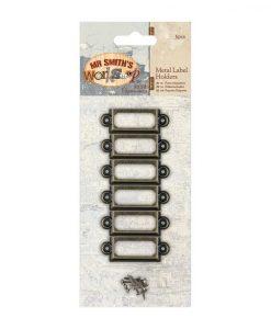 Metal Label Holders Contenitori Metallo Etichette Scrapbook