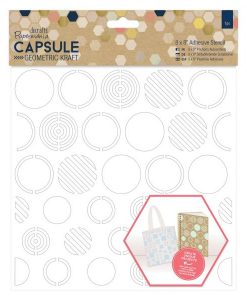 Stencil Adesivo Papercraft Scrapbook Tessile