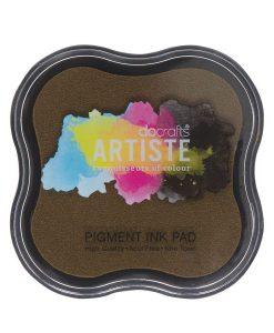 Tampone per Stamp Inchiostro Pigmentato Timbri Scrapbook Cioccolato