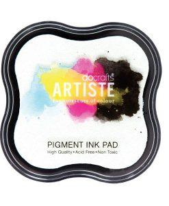 Tampone per Stamp Inchiostro Pigmentato Timbri Scrapbook Bianco