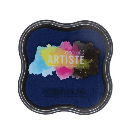 Tampone per Stamp Inchiostro Pigmentato Timbri Scrapbook Blu