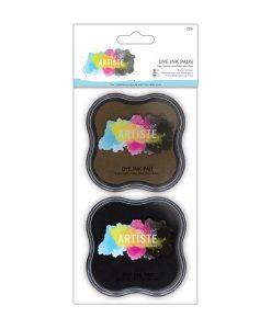 Tampone per Stamp Inchiostro Dye Timbri Scrapbook Clear Nero Marrone