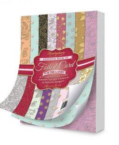 Libro Essenziale di Cartoncino Laminato - For the Ladies Cartoncino Laminato Oro Argento Scrapbook Cordonatura Piega