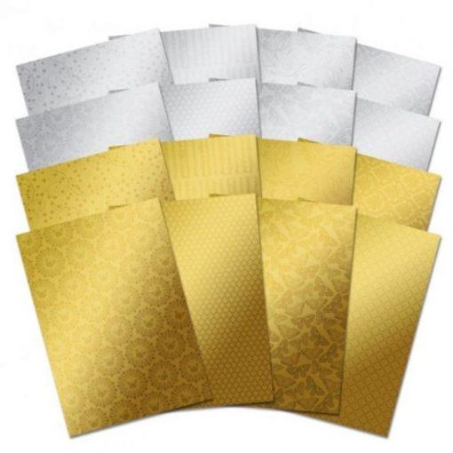 Selezione Oro e Argento - Cartoncino Mirri A4 Mirri Gold Silver Oro Argento Cartoncino Laminato Scrapbook Cardmaking