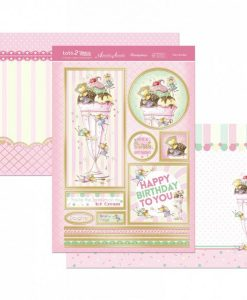 Kit per scrapbooking Topper Set - Fairy Sundae Topper Set Kit Biglietti Cards Scrapbook Decoupage