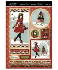 Topper Set Kit Biglietti Cards Scrapbook Decoupage Christmas Cardmaking Papercraft