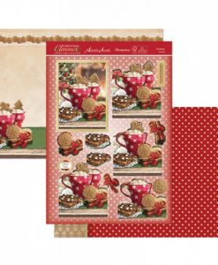 Kit per scrapbooking Topper Set - Christmas Cocoa (Natale) Topper Set Kit Biglietti Cards Scrapbook Decoupage Christmas Cardmaking Papercraft