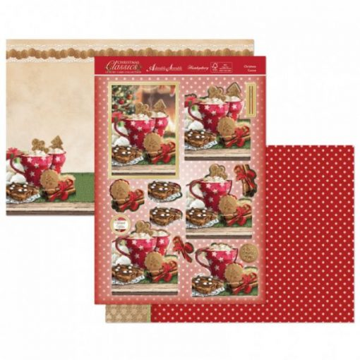 Kit per scrapbooking Topper Set - Christmas Cocoa (Natale) Topper Set Kit Biglietti Cards Scrapbook Decoupage Christmas Cardmaking Papercraft