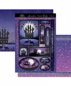 Kit per scrapbooking Topper Set - Fairytale Castle Twilight Kingdom Adorable Scorable Cartoncino Kit Biglietti Scrapbook Cardmaking Kit