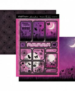 Kit per scrapbooking Topper Set - Moonlight Wishes Twilight Kingdom Adorable Scorable Cartoncino Kit Biglietti Scrapbook Cardmaking Kit