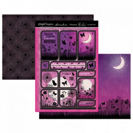 Kit per scrapbooking Topper Set - Moonlight Wishes Twilight Kingdom Adorable Scorable Cartoncino Kit Biglietti Scrapbook Cardmaking Kit