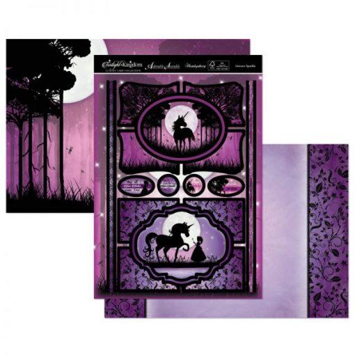 Kit per scrapbooking Topper Set - Unicorn Sparkle Twilight Kingdom Adorable Scorable Cartoncino Kit Biglietti Scrapbook Cardmaking Kit