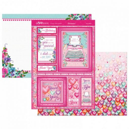 Kit per scrapbooking Topper Set - Love Letters Kit Biglietti Scrapbook Hunkydory Topper Set Italia Carmdmaking Cartoncino Cardstock Papercraft