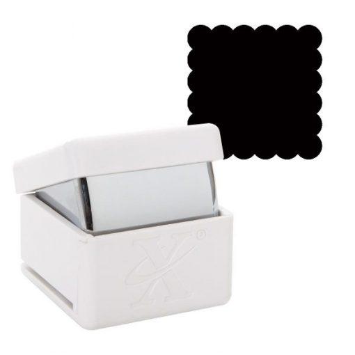 Foratrice Fustella Punch a leva Quadrato Smerlato Smerli Scrapbook Cardmaking Papercraft Inviti Biglietti