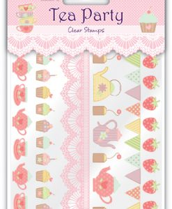 Strisce Timbri Cupcake Tè Scrapbook Tea Party
