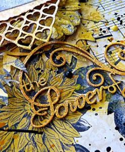 Scritta Fustellata Scrapbook The Power of Love Die-cut Chipboard