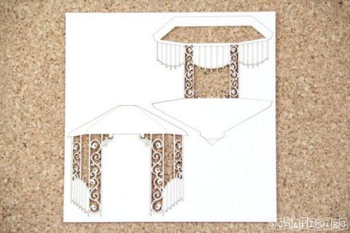 Gazebo Fustellato Die-Cut Chipboard Scrapbook Italia