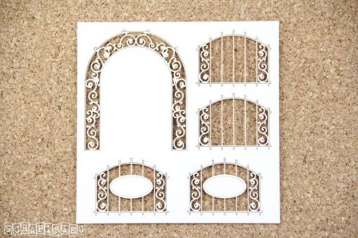 Recinzione Fustellata Fence Recinto Fustellato Scrapbook Die-Cut