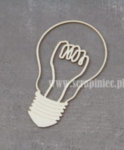 Lampadina Fustellata Die-Cut Chipboard Scrapbooking