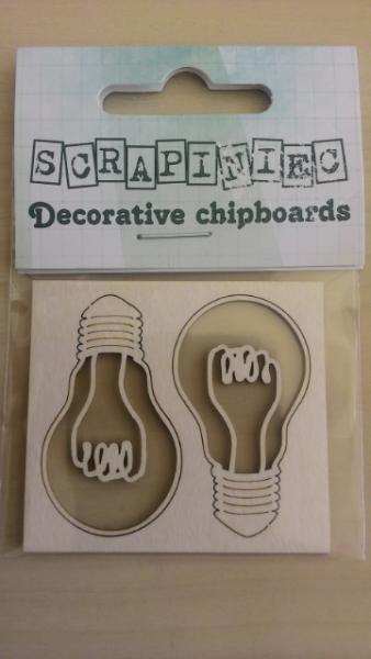 Lampadina Fustellata Die-Cut Chipboard Scrapbooking