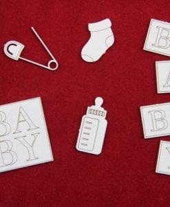 Articoli Neonato Fustellati Bibero Spilla da Balia Baby Fustellato
