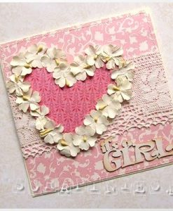 It's A Girl! Set di Parole Fustellate Scrapbook Cartoncino Pressato Chipboard
