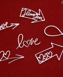 Frecce Love Fustellate Scrapbook Scritte Amore