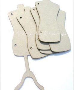 Manichino Fustellato Busto Sartoriale Fustellato Scrapbook