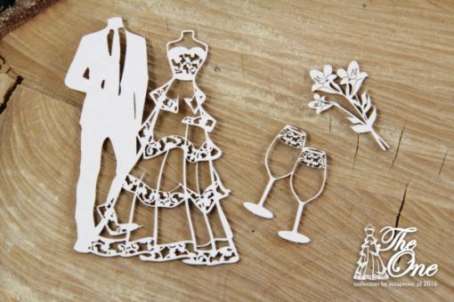 Set Matrimonio Fustellato Scrapbook Sposi Wedding Album Inviti Biglietti