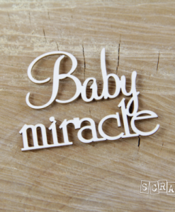 Baby Miracle Scritta Fustellata Die-cut scrapbook italia