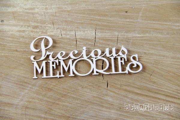 Precious Memories Scritta Fustellata