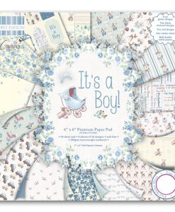 Trimcraft Italia It's a boy Paper Pad Bloccheto Scrapbook Cartoncino