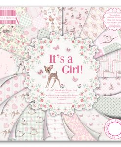 Trimcraft Italia It's a girl Paper Pad Bloccheto Scrapbook Cartoncino