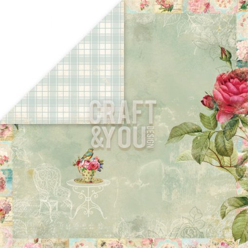 Tea Time Scrapbook Paper Cardstock Cartoncino Scrapbooking Italia