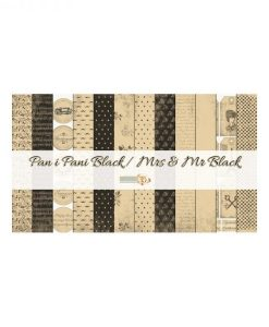 Mrs & Mr Black Cartoncino Stampato Decoupage Scrapbook Carta Materiali scrapbooking