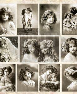 Cartoncino Stampa Foto Antiche Vintage Scrapbooking