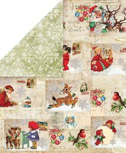 Cartoncino Stampato Biglietto Auguri Natale