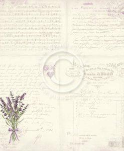 Lavender Bouqet Carta Scrapbooking Pion Design