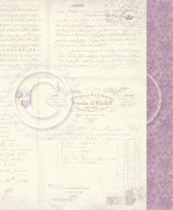 Lavender Bouquet - Foglio Singolo per Scrapbooking Carta Scrapbooking Pion Design