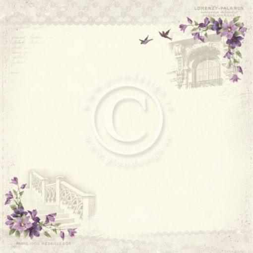 Carta Scrapbooking Stampata Pion Design Italia In Provence
