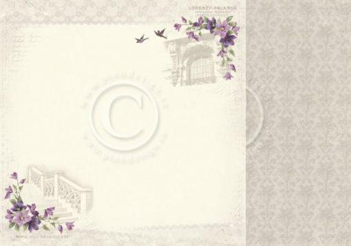 """In Provence - Foglio Singolo per Scrapbooking 12""""x12"""" Carta Scrapbooking Stampata Pion Design Italia In Provence"""