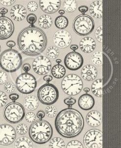 Pocket Watches - Foglio Singolo per Scrapbooking Carta Stampata Orologi Scrapook Idee Pion Design