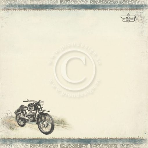 Carta Scrapbooking Moto Motrocycle