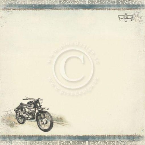 Carta Scrapbooking Moto Motrocycle