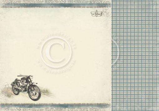 Tom's Motorcycles - Foglio Singolo per Scrapbooking Carta Scrapbooking Moto Motrocycle
