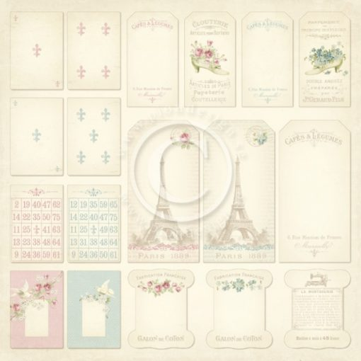 Tags Paris Flea Market Pion Design Italia Negozio Scrapbooking
