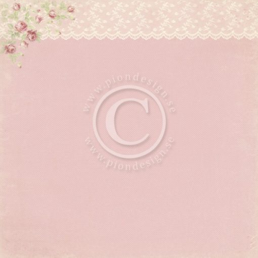 Pink Lace Pion Design Scrapbooking Carta Decoupage